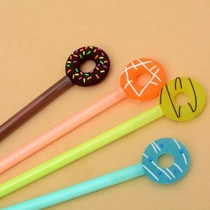 Candy colored doughnut neutral pen advertising promotion writing pen student exam reward learning stationery water mini pens