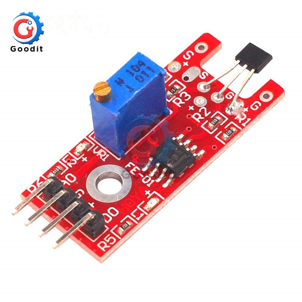 3Pcs/Lot KY024 Hall Sensor 4Pin KY-024 Linear Magnetic Hall Switch Speed Counting Sensor Module for arduino
