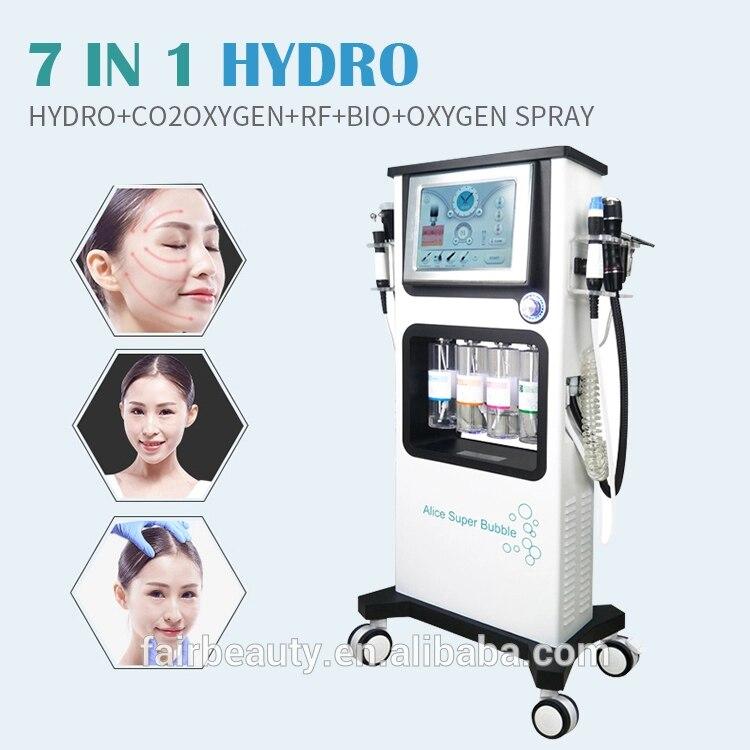 Fabricante de microdermoabrasión facial máquina de oxígeno peel facial blanqueamiento hydro facial aqua pelar casa dispositivo