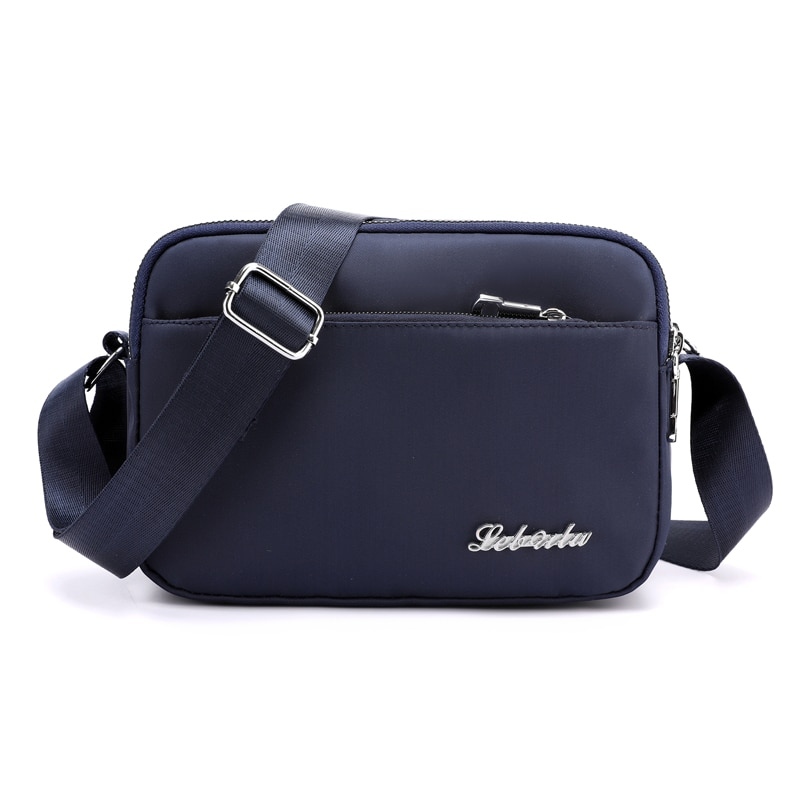 حقيبة كتف نسائية من النايلون ، حقيبة كتف غير رسمية ، حقيبة حمل متعددة الطبقات ، تسوق ، سفر
