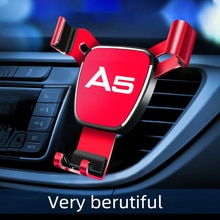 Car Air Outlet-Holder For Audi A5 Mobile Phone 1pcs Car logo Car Navigation Smartphone stand Automot