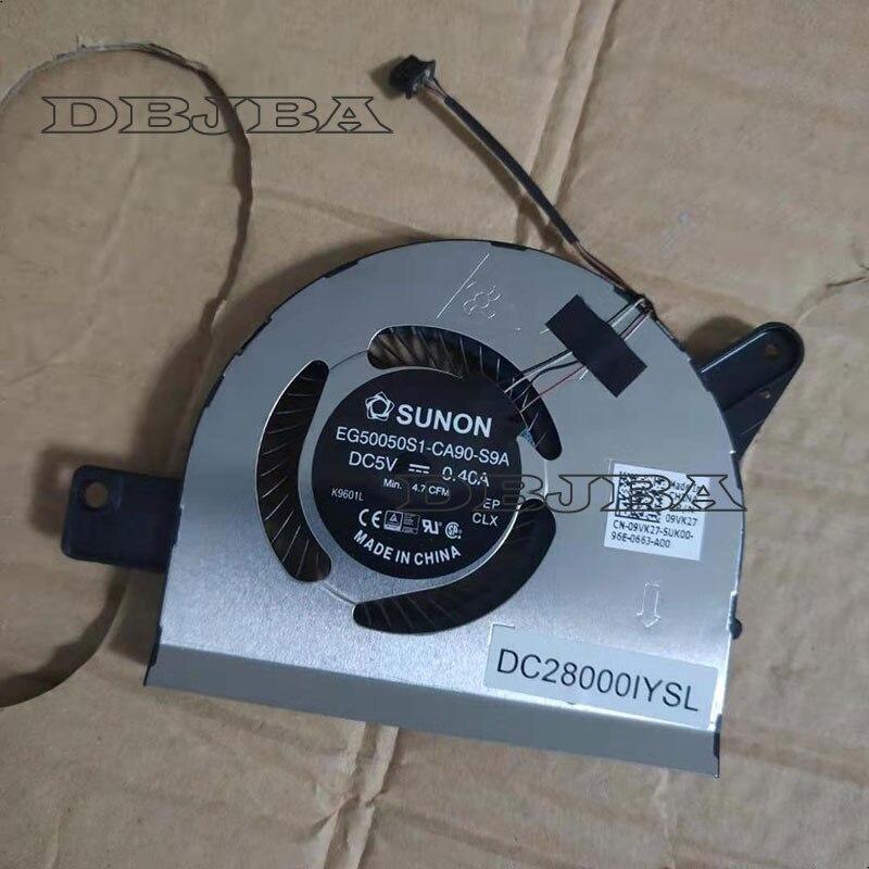 Ventilador de refrigeración de cpu para Dell Latitude 5580 DC28000IYS0 EG50050S1-CA90-S9A 9VK27
