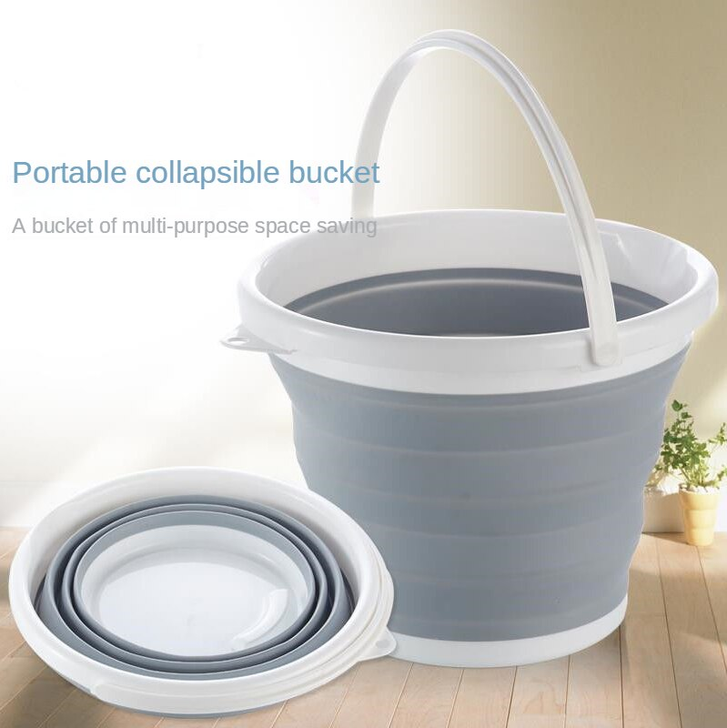 Folding Bucket Portable Retractable Plastic Household Portable Travel Outdoor Car Wash Bucket Fishing Bucket Camping Equipment