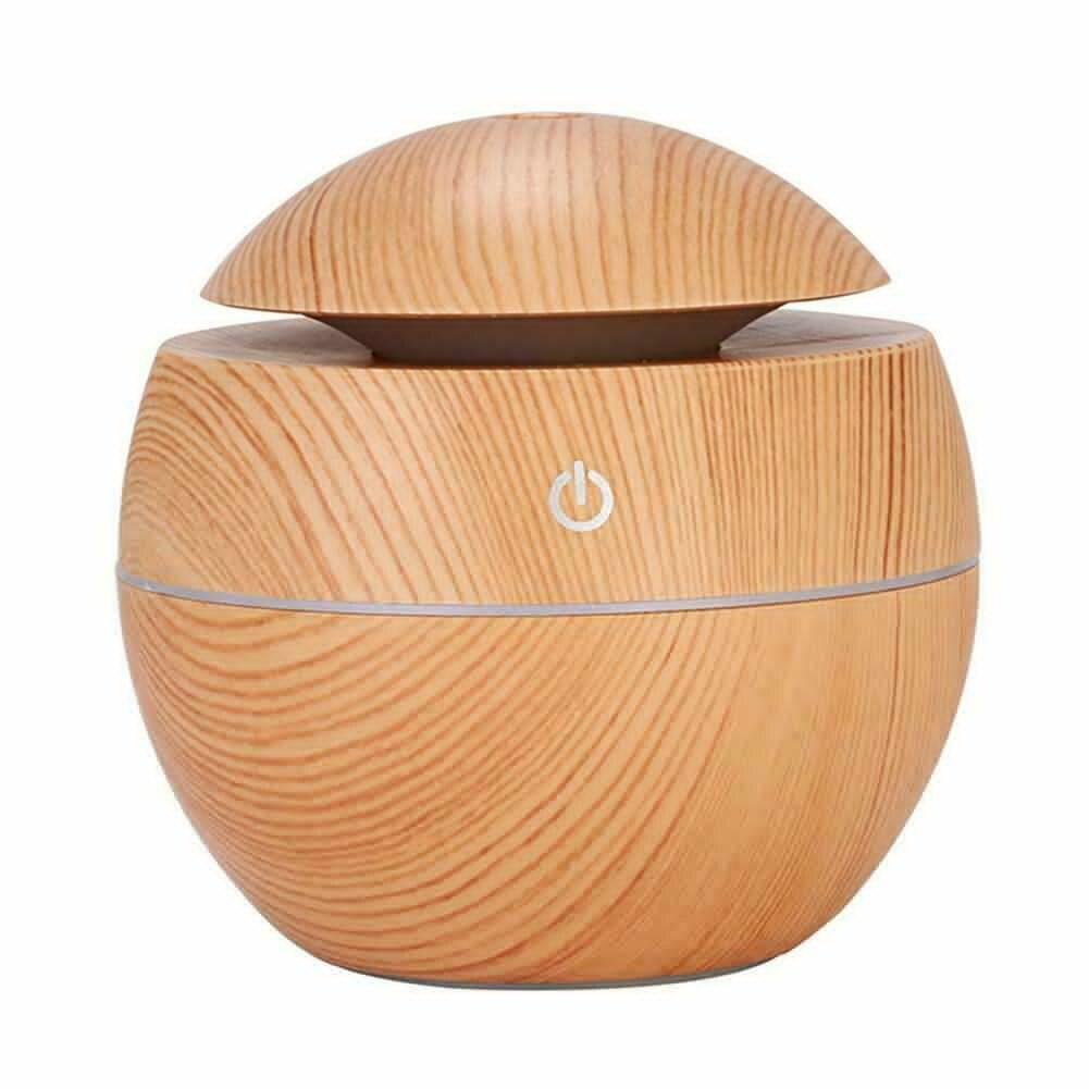 7 colores de cambio LED de luz nocturna humidificador de Aroma de aire USB difusor de aceite esencial grano de madera ultrasónico Cool Mist Maker