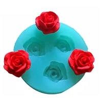 3d baking fondant silicone mold used to easily create poured sugar