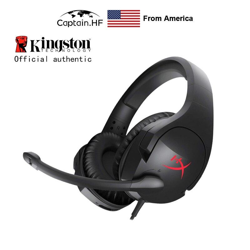 US Captain-سماعة ألعاب احترافية Hyper X Cloud Stinger ، وسماعات رأس أصلية للكمبيوتر الشخصي وأجهزة الكمبيوتر المحمولة وسماعات أذن لمشغلات Kibersport