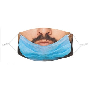 Halloween Cosplay Mask Unisex 3d Creative Funny Printing Outdoor Mask Cotton Washable Reusable Face Mask Adjustable Earloops