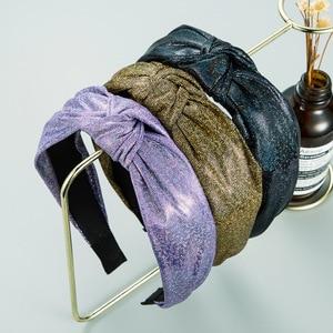 Fashion Satin Headband Trendy Bright Satin Headbands for Women Headwear Bowknot Hair Bands Hair Accessories Baroque Headband