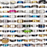 fashion 50pcslot mix style stainless steel spinner rings worry anxiety decompression moon star love finger rings jewelry gift