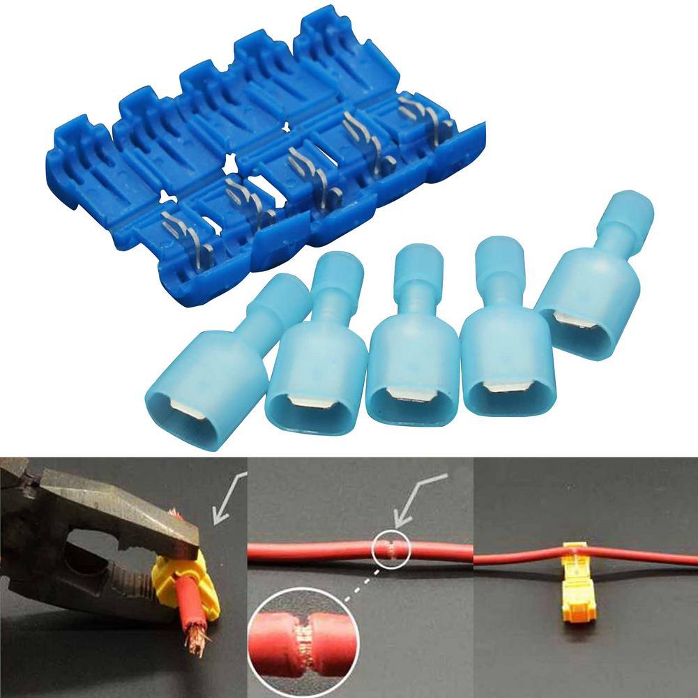 40 terminais de conectores de fio elétrico dos pces crimp terminal s-cotch lock rápida splice awg 16-14 conjunto de ferramentas de kit de áudio de carro elétrico