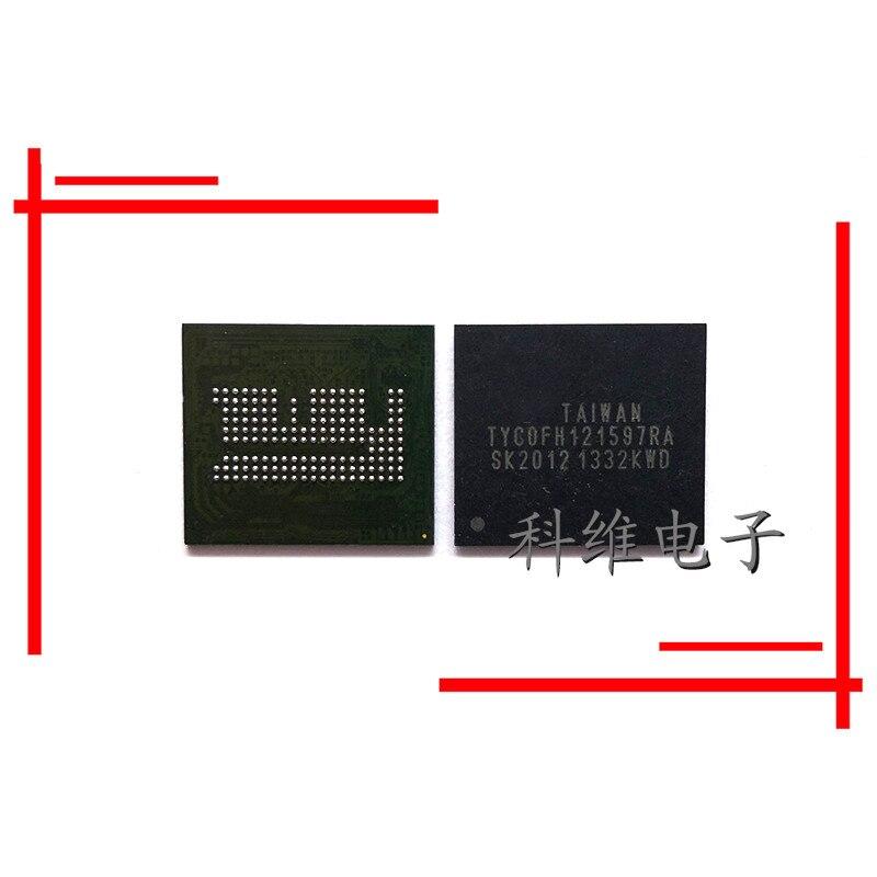 1 Uds 2 uds 5 uds TYCOFH121597RA FBGA-162 emmc 32 + 4 de almacenamiento en disco duro carácter de chips CI original nuevo