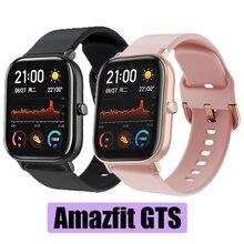 시계 밴드 xiaomi huami amazfit gts/amazfit bip/gtr 42mm 스트랩 메탈 버클 실리콘 벨트 스포츠 스마트 시계 팔찌 스트랩