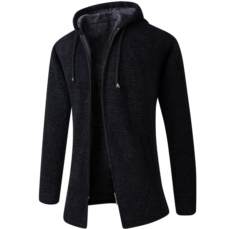 Cardigan 2020 Long Sleeves Solid Men's Fashion Sweaters Coat Thick Casual Slim Classic Keep Warm Male Spring Autumn Hats