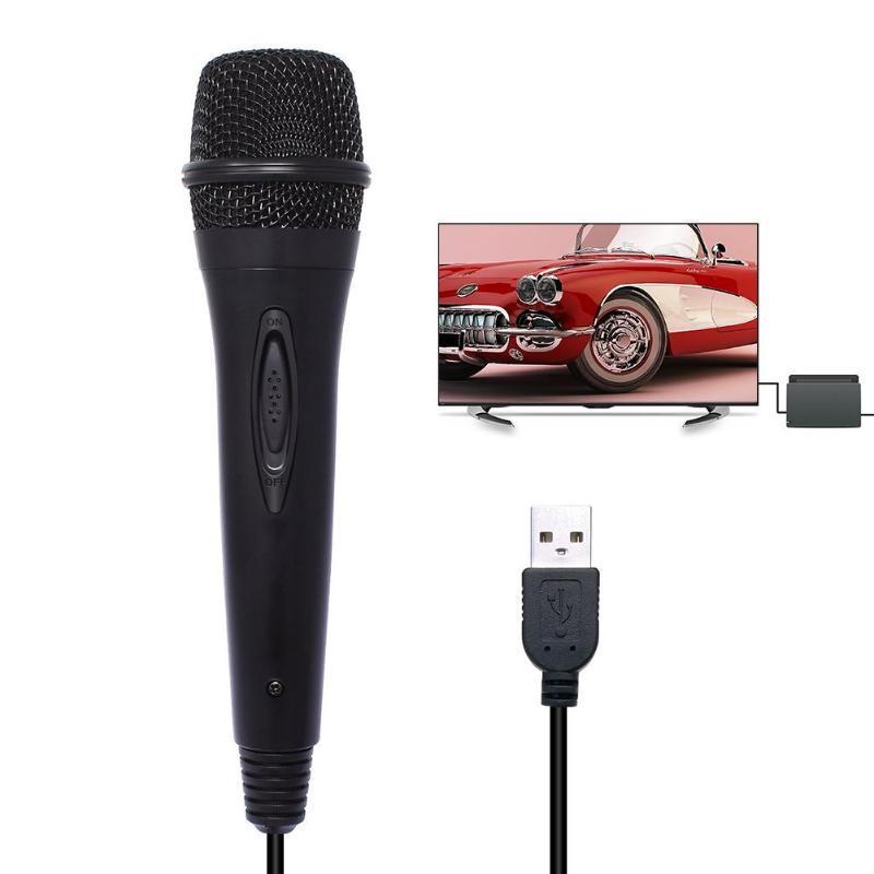 Micrófono para Karaoke con cable USB 3m/9.8ft, micrófono de alto rendimiento para Nintendo Switch PS4, Wii U, XBOX360 PC