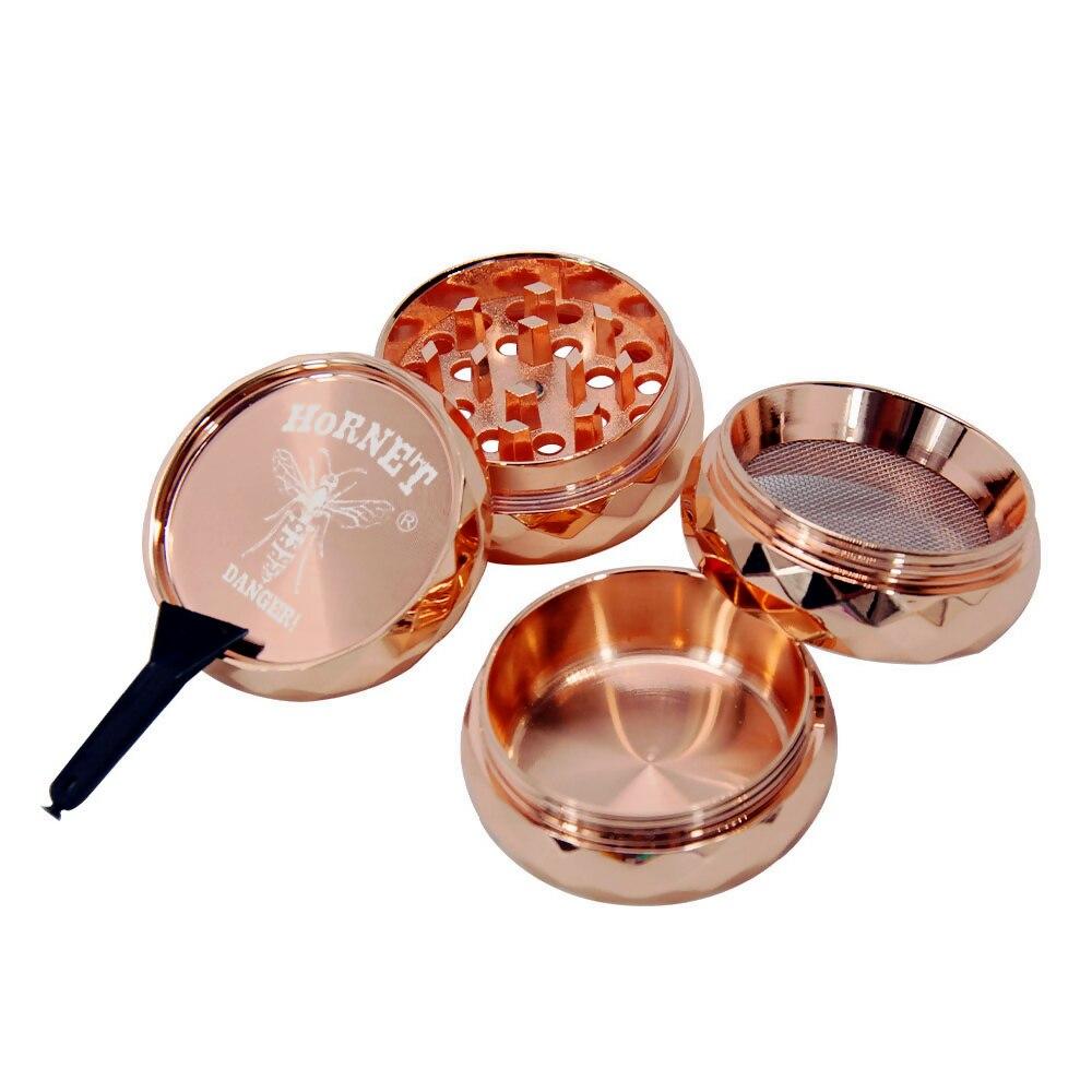 Купить с кэшбэком HORNET 4 Layers 43mm Metal  Herb Grinder Diamond Shape Herbal  Grinders Cigarette Accessories