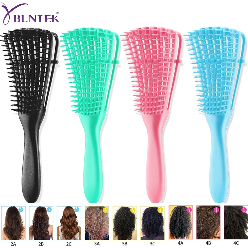 YBLNTEK Detangling Hair Brush Scalp Massage Hair Comb Detangling Brush for Curly Hair Brush Detangler Hairbrush Women Men Salon