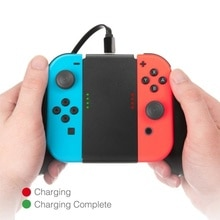 New For Game Console Charger Charging Hand Grip Gamepad Stand Holder 500ma For Switch NS NX Joy Con