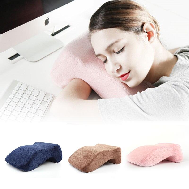 Espuma de memória viagem nap travesseiro sete-em forma de dormir na mesa almofada suporte de cabeça anti-mão dormência travesseiro crianças nap travesseiro