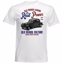 Newest Fashion Stranger Things T Shirt Men Short Sleeve Vintage French Car Traction Avant Print Tee Shirts