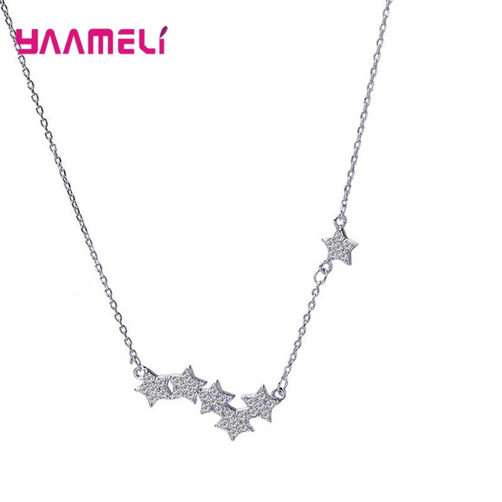 Ожерелье-женское-из-серебра-925-пробы-с-пятиконечной-звездой