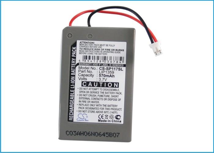 Аккумулятор Cameron Sino 570mAh для Sony CECHZC2E,Dualshock 3, беспроводной контроллер, LIP1359