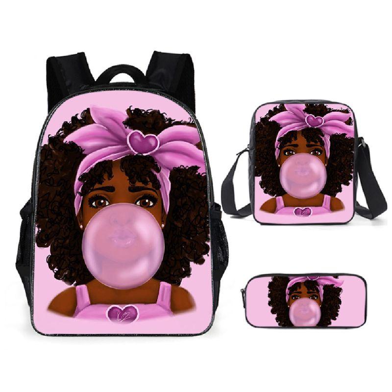 African Girl Backpack Laptop Daypack Teenage Bookbag Shoulder Bag Purse corduroy women backpack bookbag laptop daypack college travel school shoulder bag for teenage girl f42a
