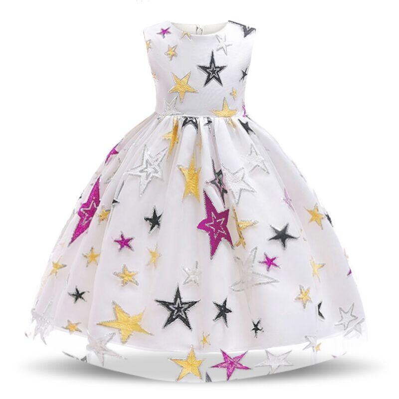 Nova flor das crianças vestido 3 4 5 6 7 8 anos de idade rendas cor correspondência meninas princesa vestido de festa verão bebê tutu vestido roupas