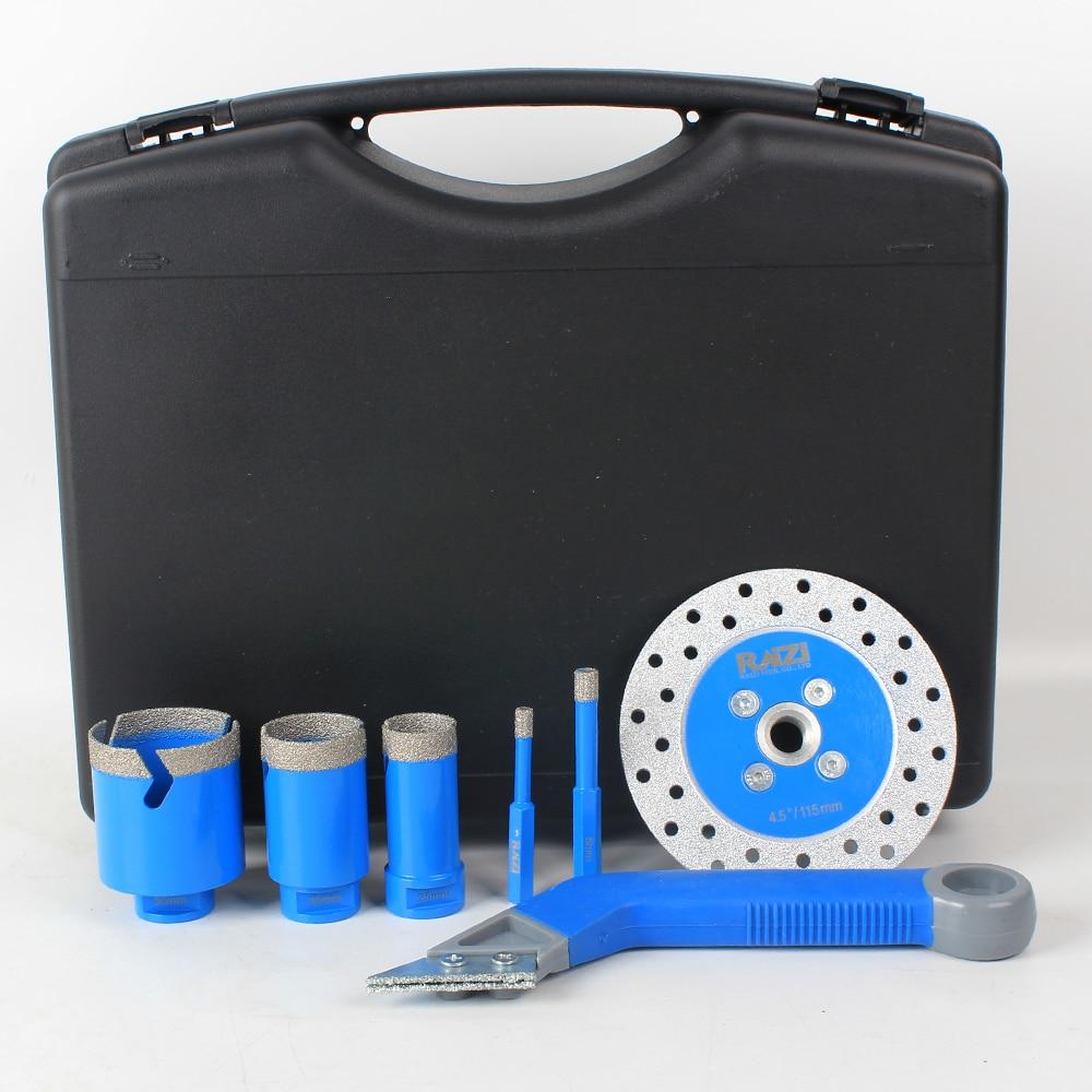 Raizi Professional Diamond Hole Saw Drill Bit Set Porcealin Ceramic Tile Cutter Kit For Tiling Installor Installation Tool enlarge