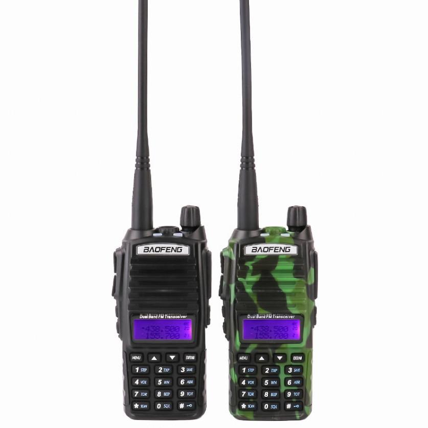 2PCS UV82 VHF UHF Transceiver Walkie-talkie Two Way Radio Talkie Walkie Ham Radio Comunicador Baofeng uv 82 Walkie Talkie