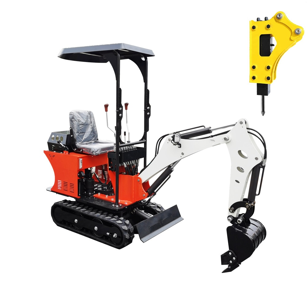 Hydraulic 0.8T Mini Excavator Small Digger with Gasoline/Diesel/Engine and CE
