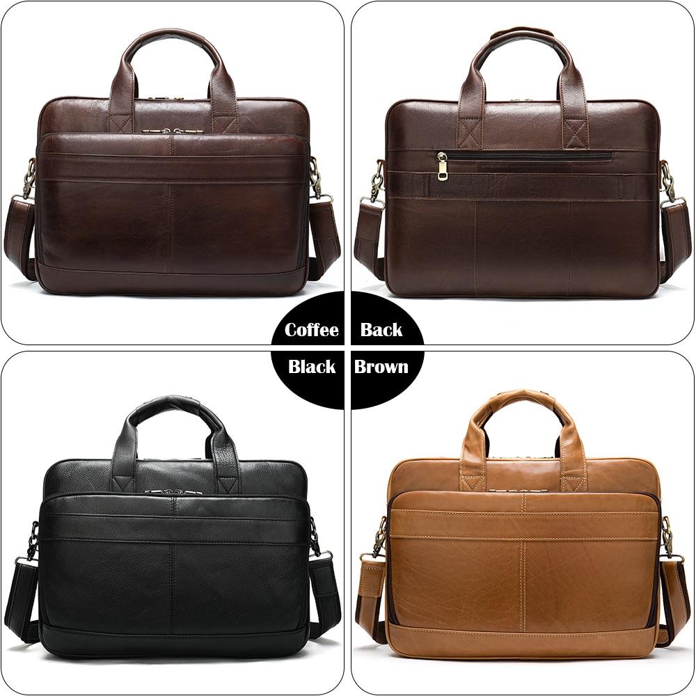 Чоловіча шкіряна сумка чоловічі - Портфелі - фото 6