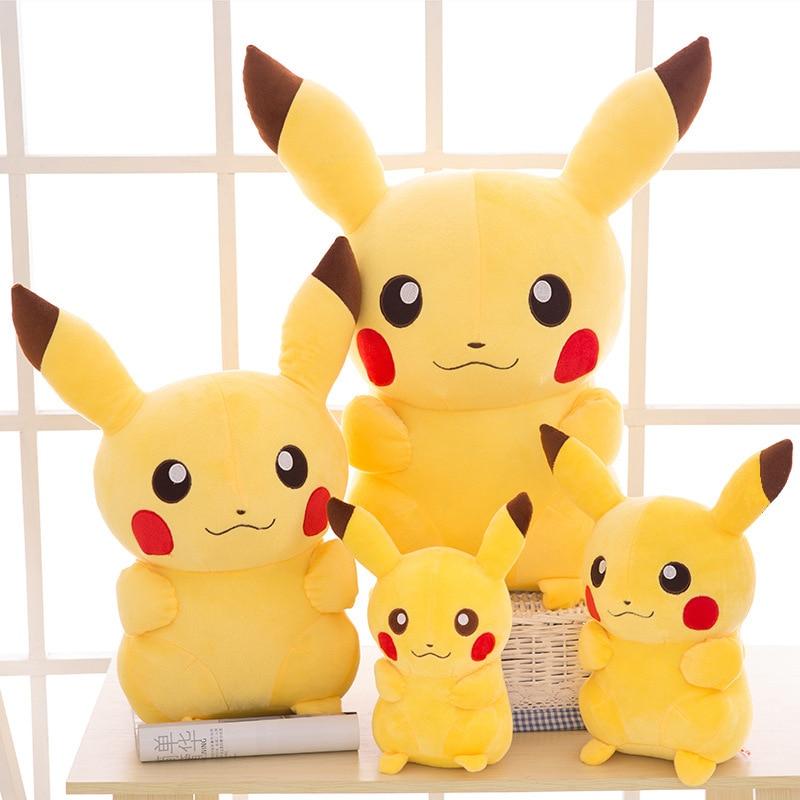 NEW TAKARA TOMY Pokemon Pikachu Plush Toys Stuffed Toys Japan Movie Pikachu Anime Dolls Christmas Birthday Gifts for Kids