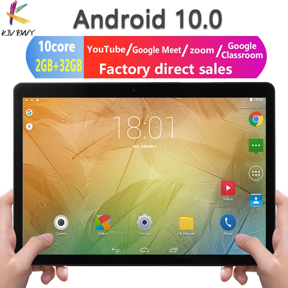 Newest 10.1 inch Tablet Android 10.0 Octa Core Google Play ZOOM 3G 4G LTE Phone Call Dual SIM Cards WiFi Bluetooth GPS Tablets