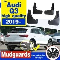 for audi q3 2019 2020 car mud flaps mudflaps mudguards splash guards fender car front rear wheel soft plastic accessories