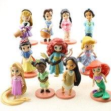 5/6/8/11 beauté princesse jouet Action Figure PVC décoration Collection neige blanc sirène modèle poupées ensembles fille enfant anniversaire cadeaux