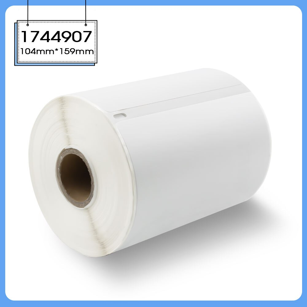 Absonic-ورق حراري للطابعة DYMO 1744907 ، 104 × 159 مللي متر ، 220 قطعة ، ملصقات ، ملصق شحن العنوان ، لطابعة LW 400 LW450 LW300 LW310