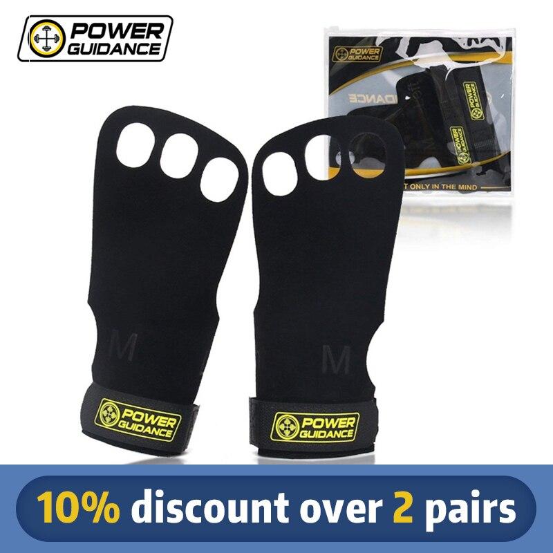 Кожаные перчатки для занятий спортом Power Guidance, перчатки для занятий гимнастикой и тяжелой атлетикой