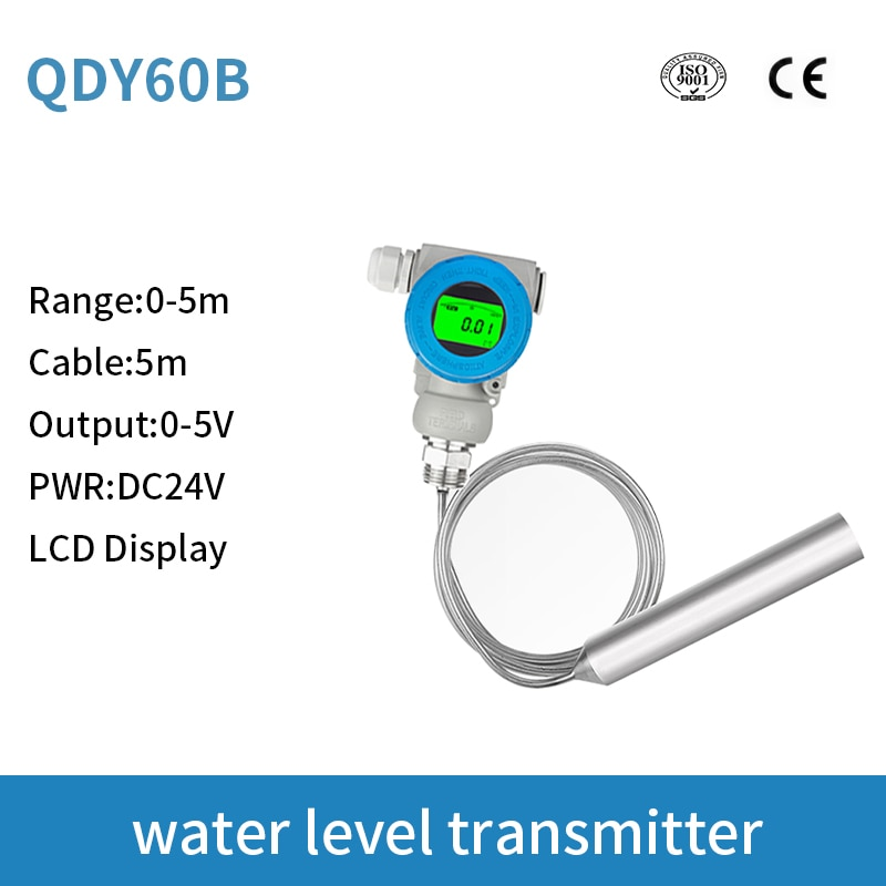 LCD Display 0-5v diesel fuel tank level sensor liquid capacitance level transmitter fuel level sensor for arduino