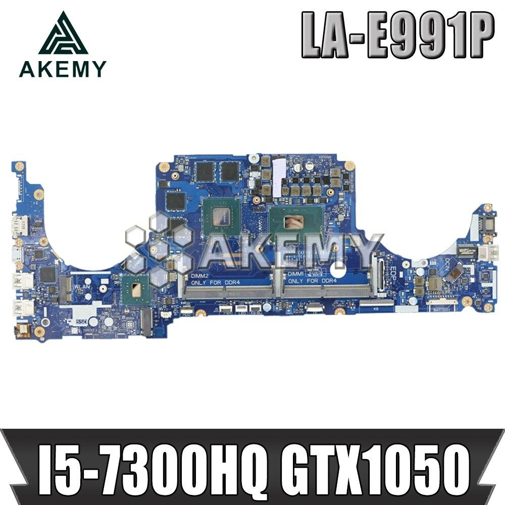 15 LA-E991P motherboard Para For DELL Inspiron 7000 7570 7577 motherboard I5-7300HQ GTX1050 CN-0CPHC8 Teste 100%