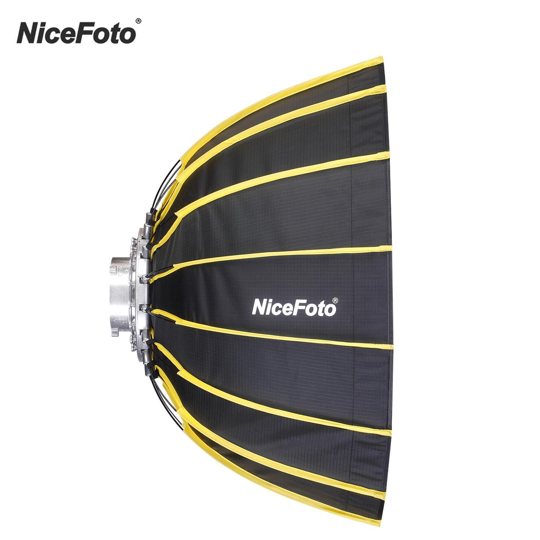 NiceFoto-سوفت بوكس سداسية 60 سنتيمتر مع ناشر ، صندوق سوفت بوكس ، شريط قماش شبكي ، صندوق إضاءة فلاش استوديو