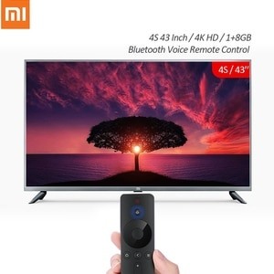 Xiaomi tv mi smart tv 4 k hd 4S 43 Polegada 1 + 8 gb android smart tv suporte bluetooth voz controle remoto televisão versão chinesa