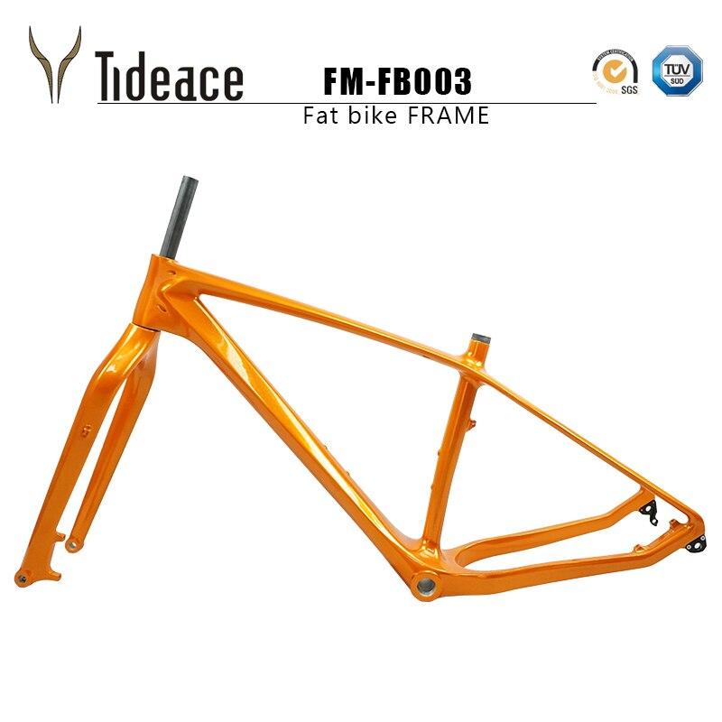 16 18 20 custom paint carbon fat bike frame with fork 26er max 5.0 tires carbon snow bike frameset carbon fat bike frames