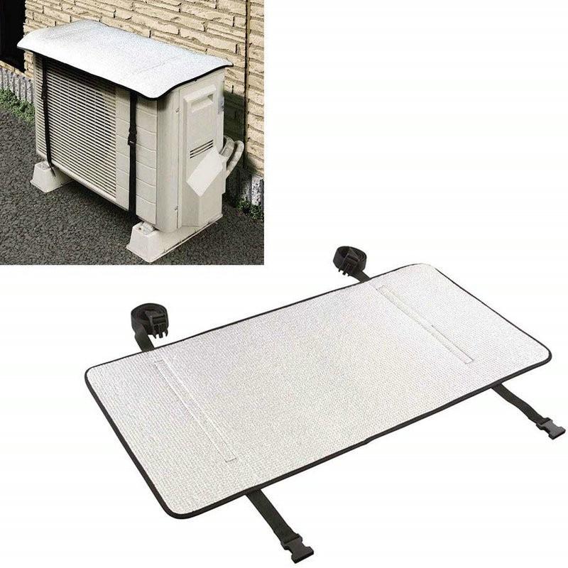Ar condicionado capa de alumínio à prova dwaterproof água filme proteção solar anti-uv condicionador de ar capa anti-poeira condicionador à prova de sol prot