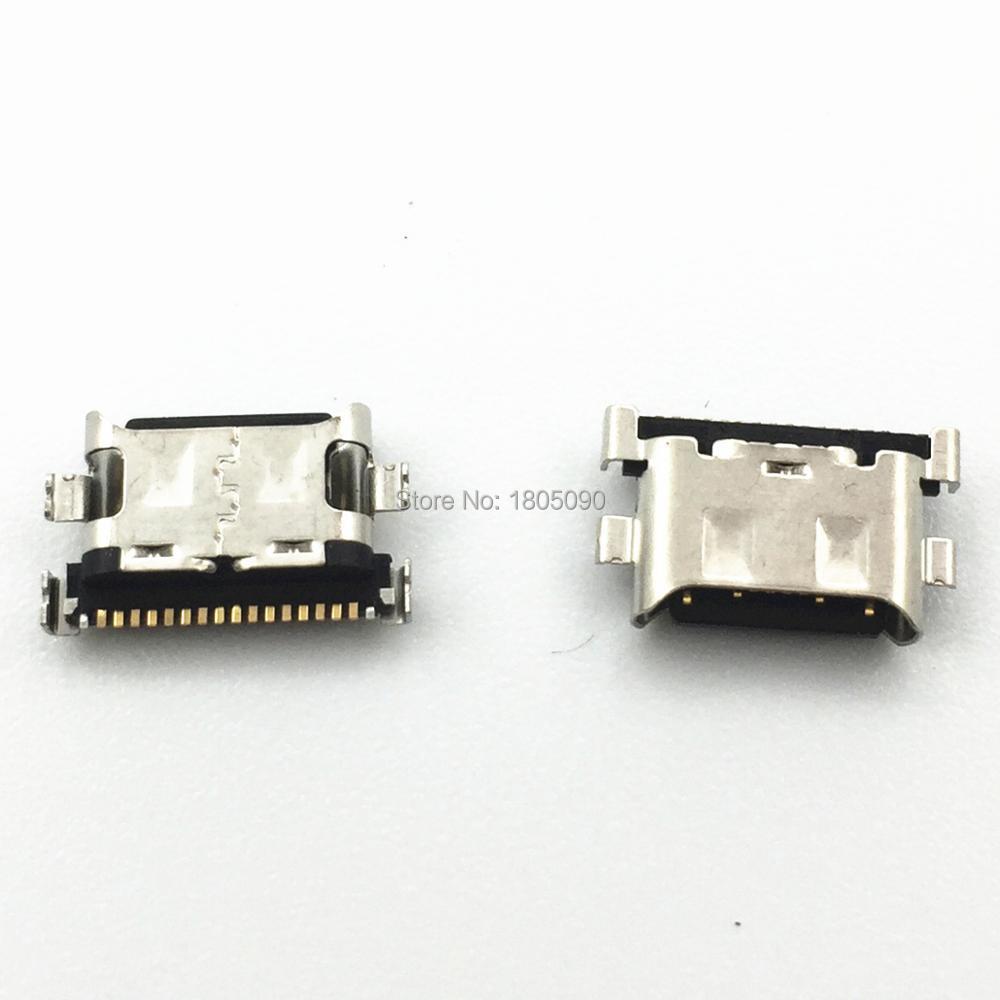 منفذ شحن الهاتف المحمول, 100 قطعة منفذ USB صغير 18 دبوس موصل USB صغير منفذ شحن المحمول لسامسونج غالاكسي A30 A305F A50 A505F A70 A20 A40 استبدال إصلاح
