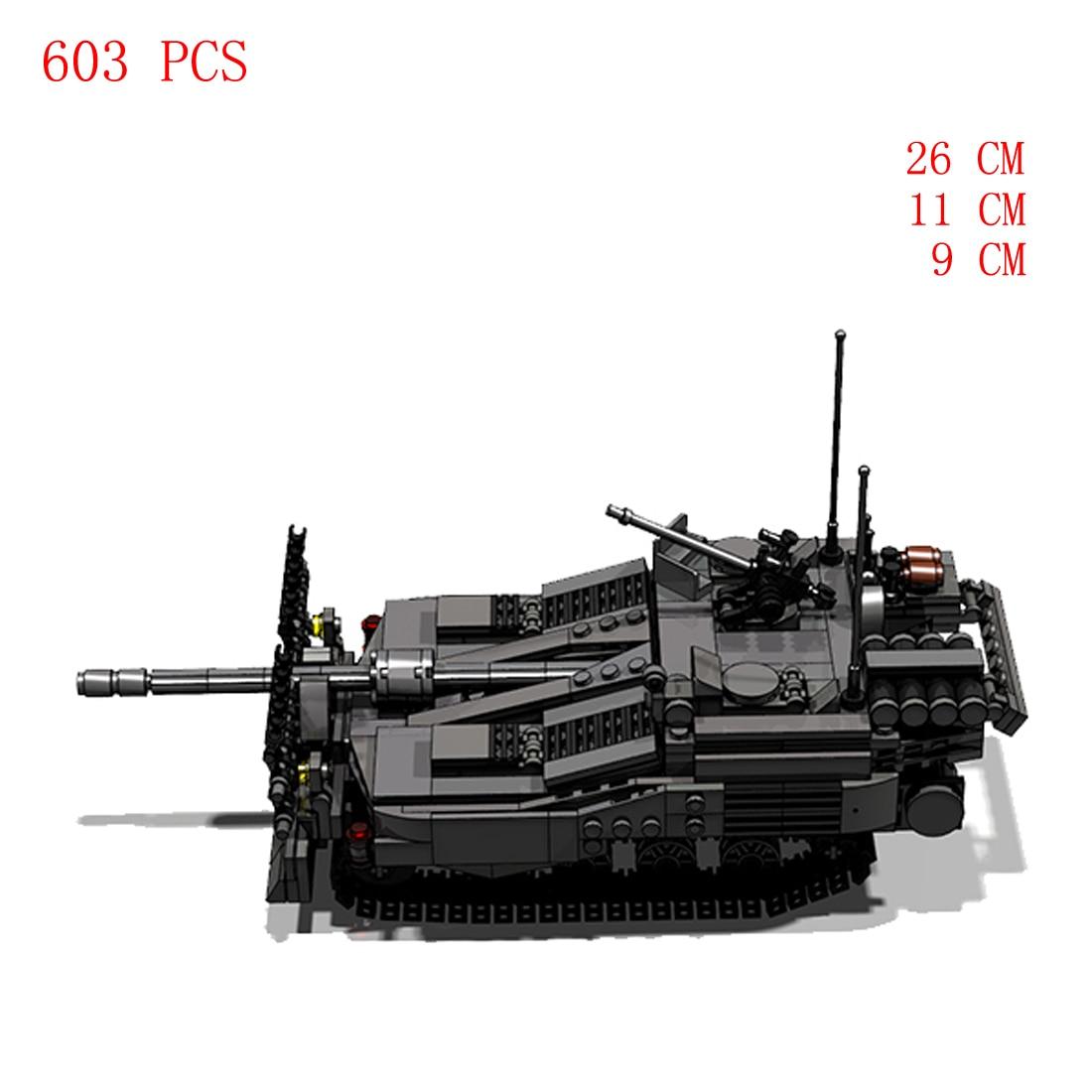 Купить с кэшбэком hot military WW2 Sweden army technical STRV-103B tank vehicles war weapons equipment bricks model Building Blocks toys for gift