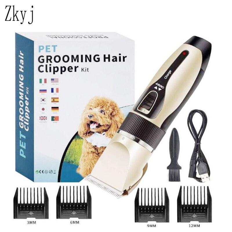 Recortador de pelo eléctrico para perros, cortadora de pelo para mascotas con carga USB, removedor de pelo de gato de poco ruido, máquina cortadora para acicalamiento de mascotas