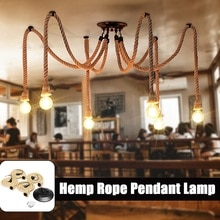 Smuxi Vintage Retro Aranha _ Industrial Loft Luzes Da Corda de Cânhamo 4 6 8 10 12 Cabeças Luzes de Teto Para sala de Jantar sala de Bar