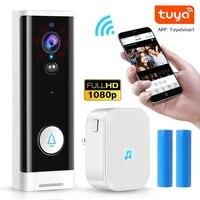Mini Tuya 1080P WIFI Video Doorbell Wireless Smart Home Door Bell Camera 2MP Two Way Audio PIR Motion Detection Doorbell Camera