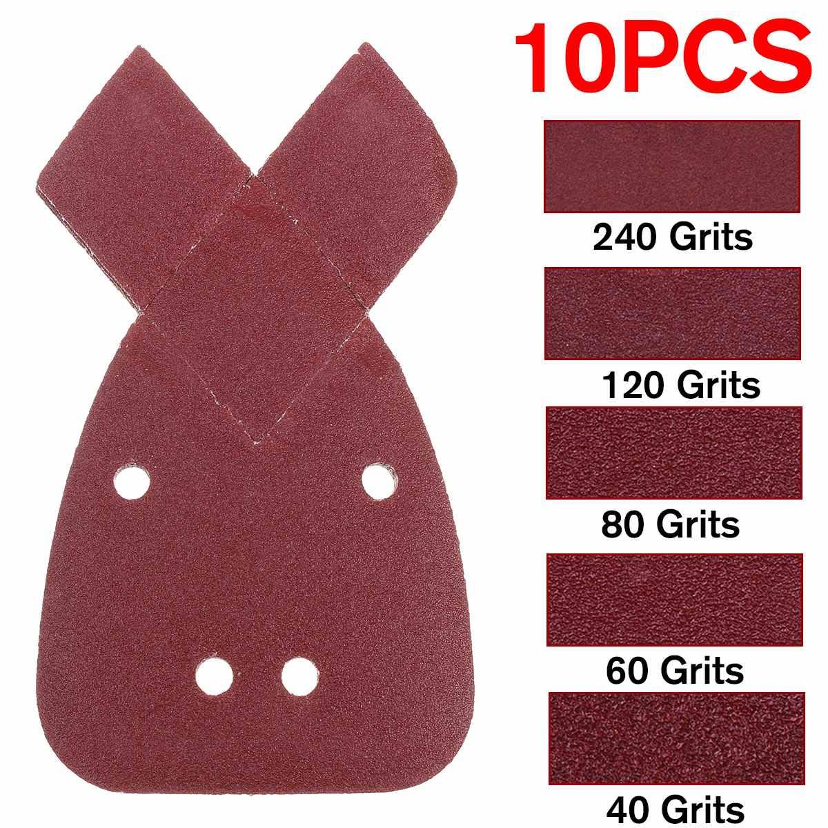 10 Uds. Papel lijado de 40/60/80/120/240 Moses lijar hojas almohadillas lijas de papel para pulir negro y Decker