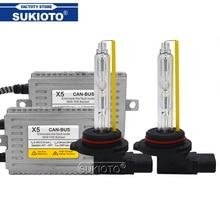 Комплект ксеноновых фар SUKIOTO, 55 Вт, 5500K H7 H1 H3 H9 H11 HB3 HB4 9012 D2H 12 В